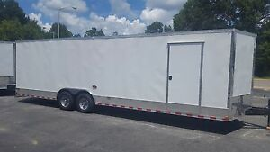 New 2018 8 5x28 V nose Enclosed Cargo Trailer Car Toy Hauler 8 5x28 5200lb Axles