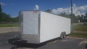 New 8 5x24 V nose Enclosed Cargo Trailer Car Toy Hauler 8 5x24 5200lb Axles