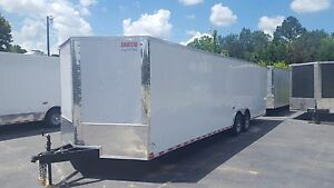 New 8 5x28 V nose Enclosed Cargo Trailer Car Toy Hauler 8 5x28 5200lb Axles