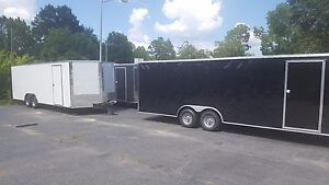New 2018 8 5x24 V nose Enclosed Cargo Trailer Car Toy Hauler 8 5x24 5200lb Axles