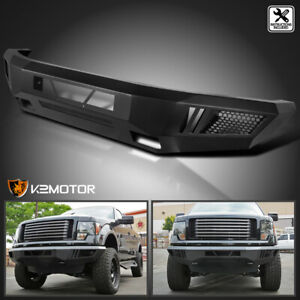 Fit 2009 2014 Ford F150 Raptor Style Black Steel Front Bumper Conversion Upgrade