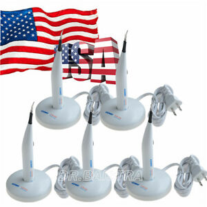 5x Dental A blade Gutta Percha Tooth Gum Cutter 4 Tips 110 220v Wireless Mode