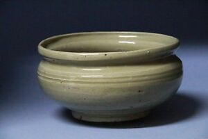 Yuan Dynasty Green Glaze Brush Container S020