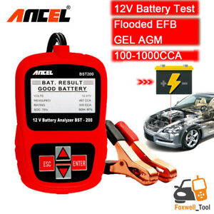 Car 12v Battery Tester 100 1000cca Acid Agm Gel Battery Analyzer Ancel Bst200