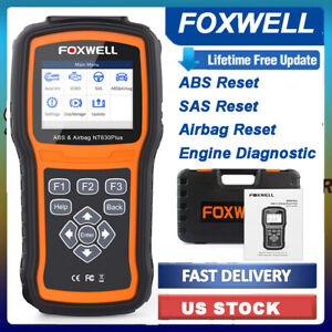 Abs Airbag Srs Sas Reset Obd2 Code Reader Diagnostic Tool Engine Check Scanner