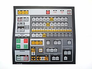 Cnc Machine Keypad Replacement Membrane overlay 11 12 00 Nos