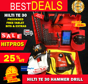 Hilti Te 30 Hammer Drill Preowned Free Tablet Bits A Lot Extras Fast Ship