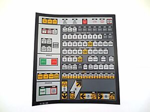 Cnc Machine Keypad Replacement Membrane overlay 11 18 00 Nos