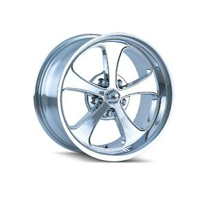 Ridler 645 2161c Single Style 645 20x10 5x120 65mm 0 Offset Chrome Rim