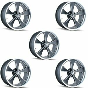 Ridler 645 7865mbp Set Of 5 Style 645 17x8 5x114 3mm 0 Offset Matte Black Rims