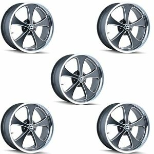 Ridler 645 7765mbp Set Of 5 Style 645 17x7 5x114 3mm 0 Offset Matte Black Rims
