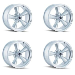 Ridler 675 5861s Set Of 4 Style 675 15x8 5x120 65mm 12 Offset Silver Rims