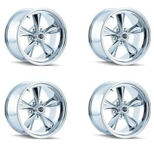 Ridler 675 7861c Set Of 4 Style 675 17x8 5x120 65mm 0 Offset Chrome Rims