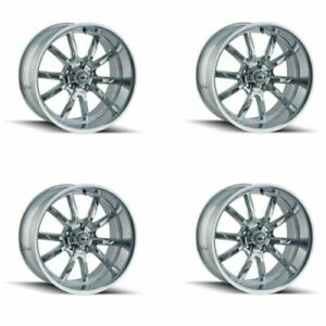 Ridler 650 5761c Set Of 4 Style 650 15x7 5x120 65mm 0 Offset Chrome Rims