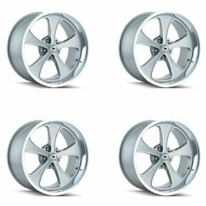 Ridler 645 7873gp Set Of 4 Style 645 17x8 5x127mm 0 Offset Grey Rims
