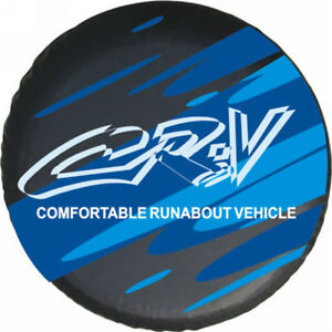New Spare Tire Cover 15inch Fit For Honda Crv Blue By Vinyl Nice