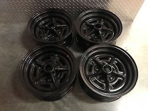 14 Inch Black Stock Wheels Rims Steel Rally Buick Pontiac Chevy 5x120 Lug G Body