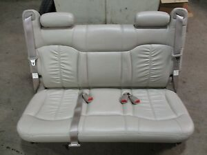 00 06 Chevy Suburban Gmc Yukon Tahoe Rear Seat 3rd Third Row Bench Tan