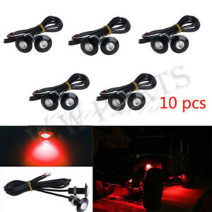 10x Red Led Eagle Eye Rock Lights Atv Off Road Truck Underbody Trail Rig Lights