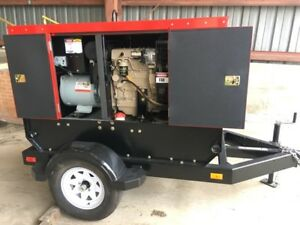 Baldor Ts25 20kw Industrial Towable Generator W Trailer