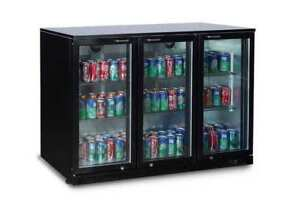 Alamo 11 3cf 3 door Glass Door Commercial Back Bar Cooler Refrigerator Bbt350