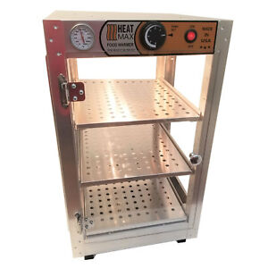 Heatmax Commercial Countertop Food Warmer Display Case With Water Tray 14x14x24