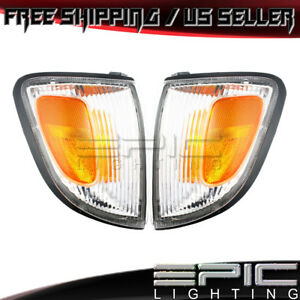 1997 2000 Toyota Tacoma 2wd Corner Marker Signal Lights Left Right Sides Pair