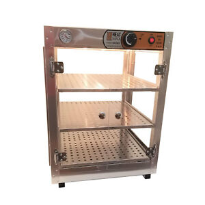 Heatmax Commercial Countertop Food Warmer Display Case With Water Tray 18x18x24