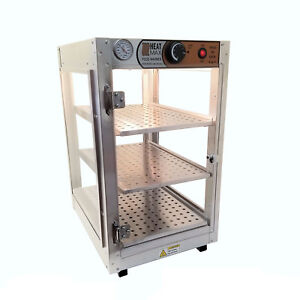 Heatmax Commercial Countertop Food Warmer Display Case With Water Tray 14x18x24