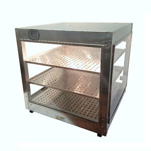 Heatmax Commercial Countertop Food Warmer Display Case With Water Tray 24x24x24