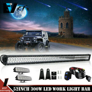 50 Led Windshield Bracket Light Bar Kit led Pods 2007 2017 Jeep Wrangler Jk