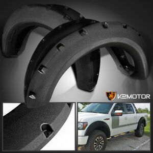 Rugged Textured 2009 2014 Ford F150 Bolt On Pocket Rivet Style Fender Flares