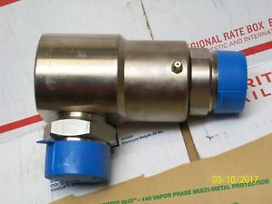Super Swivel Hydraulic Fitting 1 1 2 90 Degree Rotating Stainless Steel Nos