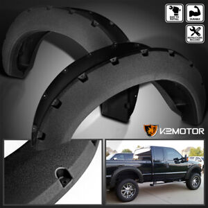 Rugged Textured 2011 2016 Ford F250 F350 Superduty Pocket Style Fender Flares