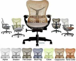 New Herman Miller Mirra Office Home Office Task Desk Chair Graphite Cappucino