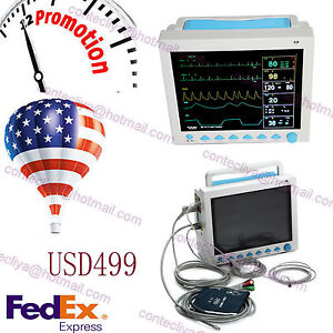 12 1 Icu ccu Multi parameter Vital Signs Patient Monitor Ce fda Contec Cms8000