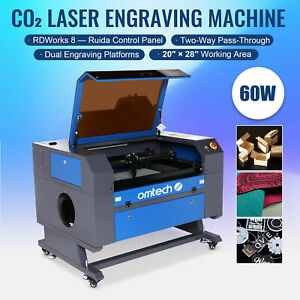 2020 New Co2 Laser Engraver Cutter 60w 28 x20 Cutting Engraving Marking Machine