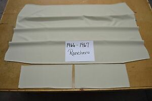 1966 66 1967 67 Ford Ranchero Off White 3 Bow Headliner Usa Made Top Quality