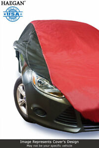 Usa Made Car Cover Red black Fits Honda Fit 2009 2010 2011 2012 2013