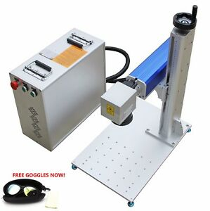 50w Raycus Fiber Laser Marking Machine Laser Engraver For Metal