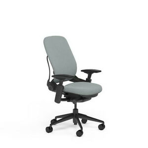 New Large Steelcase Leap Plus Adjustable Desk Chair Buzz2 Alpine Fabric 500 Lb