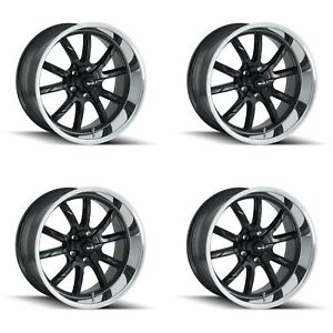 Ridler 650 8873mb 650 8973mb Set Of 4 Style 650 18x8 18x9 5 5x127 Black Rims