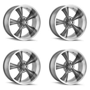 Ridler 695 7761g 695 7861g Set Of 4 Style 695 17x7 17x8 5x120 65 Grey Rims
