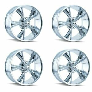 Ridler 695 7761c 695 8961c Set Of 4 Style 695 17x7 18x9 5 5x120 65 Chrome Rims