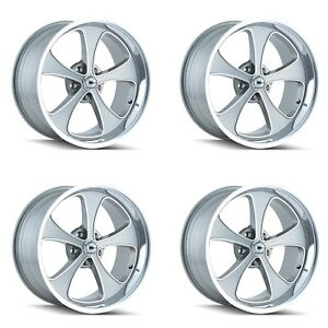 Ridler 645 7761gp 645 7861gp Set Of 4 Style 645 17x7 17x8 5x120 65 Grey Rims