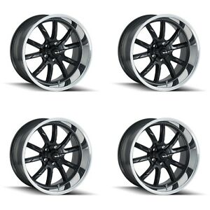Ridler 650 2873mb 650 2173mb Set Of 4 Style 650 20x8 5 20x10 5x127 Black Rims