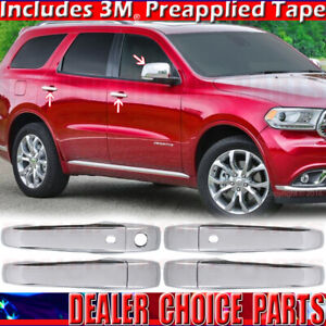 For 2011 2020 2021 Jeep Grand Cherokee Chrome Door Handle Covers W smtkh mirrors