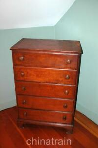 Vintage Antique Circa 1930 Kling Furniture Hardwood Wood Dresser Bureau