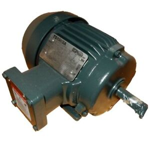 Toshiba 1 5 Hp 1800 Rpm Xpfc 230 460 Volts 145t Eqp 3 Phase Motor Y154xpea41a