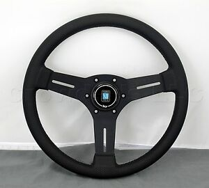 Nardi Competition Steering Wheel 330mm Black Leather Black Type A Horn